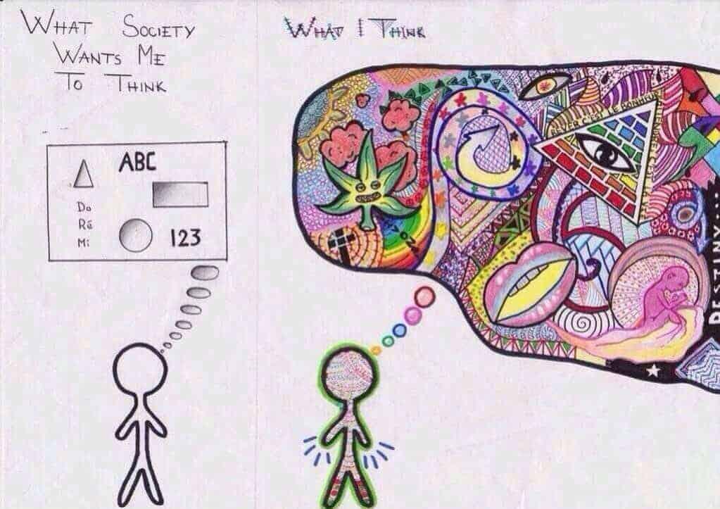 mode de pensée en arborescence vs pensée linéaire